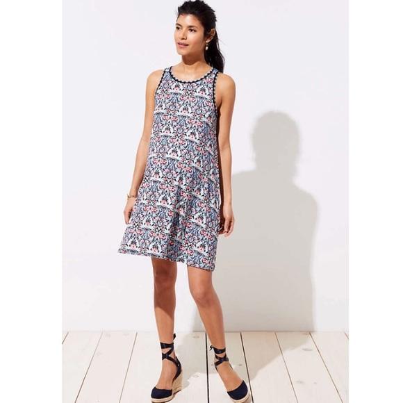 73ad70609f3a0 LOFT Dresses | Ann Taylor Maternity Kaleidoscope Dress Petit | Poshmark